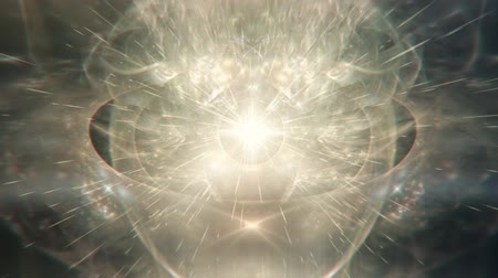 alma : Abstract Glowing Stellar Constellation Radiating Light Rays - Pastel and White Stock Footage