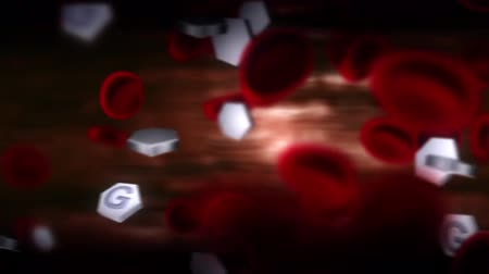 hypertension : 3D Medical Animation of blood and glucose