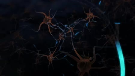 profundidade de campo rasa : neurons and signal Stock Footage