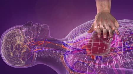 externo : Medical animation of Basic Life Support, Artificial Respiratory Cardiac Massage
