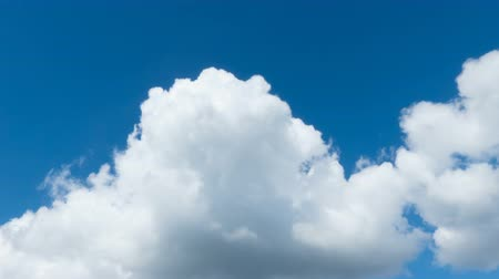 felhős : White clouds in the blue sky, time-lapse