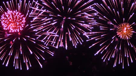 firecracker : Firework display. New Year celebration fireworks.