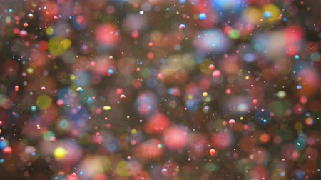 quantique : Bright Festive Background. Chaotic Motion Particles. Colorful Bubbles Oil Beautiful Paint Multi Colored Universe Moving. Space Galaxy Planets. Surface Slow Motion. Happy Holiday Christmas Background. Vidéos Libres De Droits