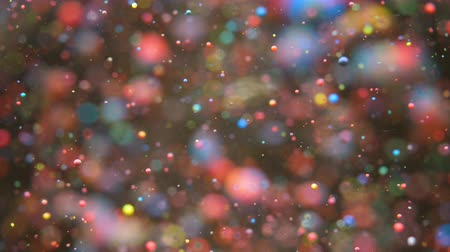 gravitace : Bright Festive Background. Chaotic Motion Particles. Colorful Bubbles Oil Beautiful Paint Multi Colored Universe Moving. Space Galaxy Planets. Surface Slow Motion. Happy Holiday Christmas Background. Dostupné videozáznamy