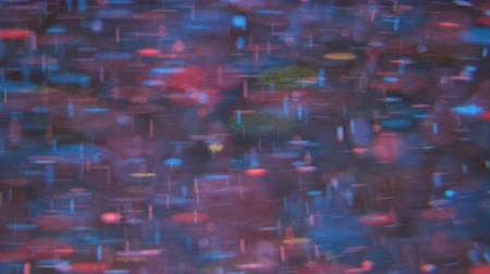 gravitace : Bright Festive Background. Chaotic Motion Particles. Multi Colored Universe Moving. Space Galaxy. Virtual Neurons Learning Neural Network. Surface Slow Motion. Happy Holiday Christmas Background Bokeh