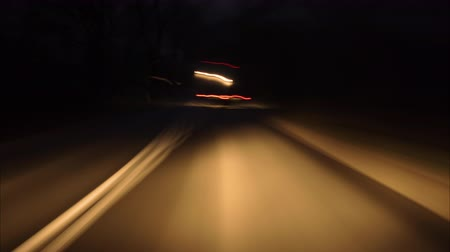 auto estrada : Driving Car On Street City At Dark. Time Lapse. Evening Street Lights. Hyperlapse Driving Car POV On Road Urban In Of Night In With Bright Lights Traffic.