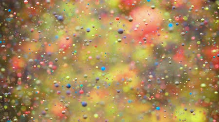 gravitace : Colorful Bubbles Oil Beautiful Paint Universe Color Moving Multicolored. Holiday Background. Christmas Galaxy Nebula Space Stars Planets. Milky Way. Fantastic surface with Chaotic motion liquid.