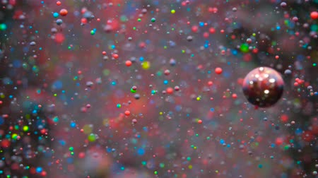 molécula : Colorful Bubbles Oil Beautiful Paint Universe Color Moving Multicolored. Holiday Background. Christmas Galaxy Nebula Space Stars Planets. Milky Way. Fantastic surface with Chaotic motion liquid.