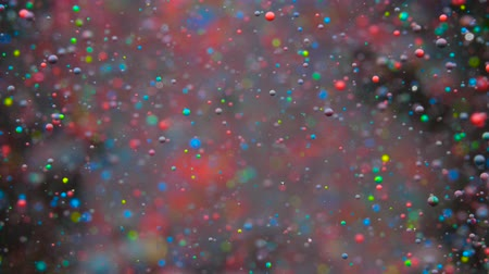 gravitace : Slow Motion Bright Colors Bubbles Oil Beautiful Paint Universe Color Moving Multicolored Closeup. Acrylic Paint. Fantastic Surface. Abstract Colorful Paint Metamorphosis Structure Colorful Bubbles