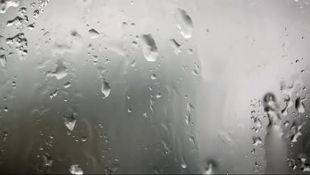 kapička : Look at the window with rain drops on the glass