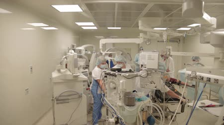 general electric : preparations at the operation room of hospital