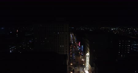 targi : Aerial view Knoxville, Tennessee, USA downtown at night Market square 4k