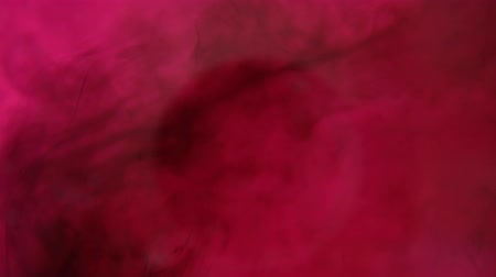 bleed : Close-up of droplets and splashes of pink ink moving, mixed in liquid, abstract background. Stock Footage