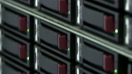 Close-up of switches on server computer Stock Footage