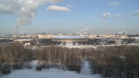 View on Moscow sport arena in winter