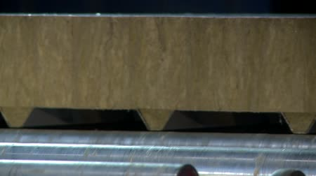 посылка : Sandwich panel moving close up video