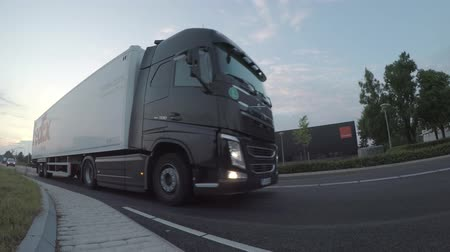 gümrük : Volvo and DAF Trucks passing