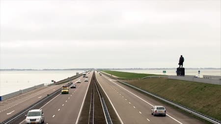 holandês : Road in Holland Stock Footage