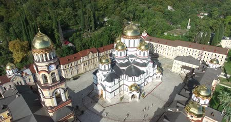 cruzes : Top view of a Christian monastery in New Athos, Abkhazia.