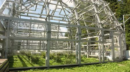 reseach : White Cross, CZECH REPUBLIC, OCTOBER 23, 2017: Open top chambers for climate change research, unique technology, unique Within the world, research the carbon cycle and other, photosynthesis, Europe, EU Stock Footage