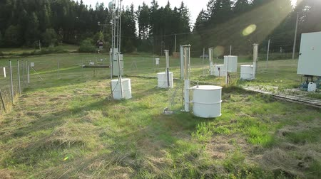 reseach : White Cross, CZECH REPUBLIC, AUGUST 20, 2014: The research station for studying alpine meadows and mountains and the weather station, cycle and carbon flux, research, eddy covariance tower science, Europe, EU