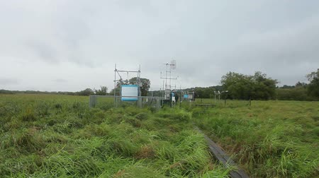 reseach : TRENON, CZECH REPUBLIC, JULY 15, 2014: The research station for studying wetlands and meadows and weather station, cycle and carbon flux, methane research, people, science, Europe, EU