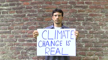 donald : OLOMOUC, CZECH REPUBLIC, JUNE 30, 2017: Demonstrations to promote sustainable development, reduction of greenhouse gases, global climate change, fossil coal oil, czech activist Roman Capka, Europe
