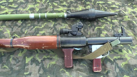 blindado : OLOMOUC, CZECH REPUBLIC, MAY 5, 2018: Armor RPG 7 is a lightweight hand-held anti-tank weapon designed for the destruction of armored vehicles, field fortifications, grenade launcher