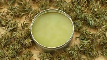 ointments : Cream medicinal cannabis hemp and cannabidiol CBD harvested dried of seeds quality for production of ointments, relieves pain, antibacterial and soothing, seeds big bud with pistils and stigmas