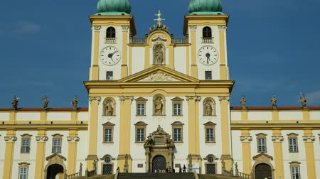 virgem : Olomouc on the Svaty Kopecek church, Czech Republic, ornamentation decoration of the Baroque architecture landmark, Basilica of the Visitation of the Virgin Mary national cultural monument