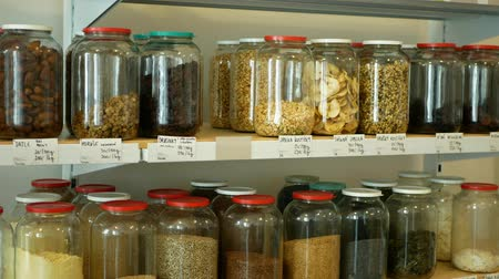 kendi : Shop without packaging, healthy nutrition wide assortment of cereals, legumes, dried fruits, nuts, flour in jars and glass bottles on their own bags, without packaging store, raw materials