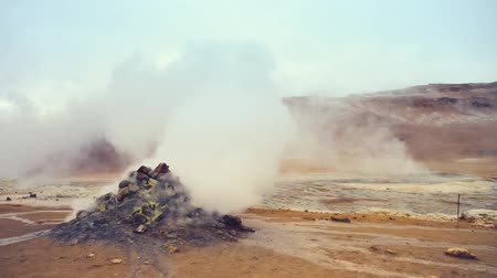 Namafjall geothermal field Stok Video