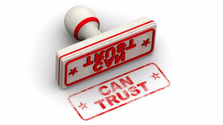 conversa : Can trust. Stamp leaves a imprint Vídeos