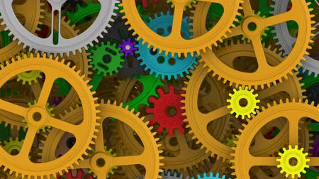 compiled : Background from multicolored cogwheels Stock Footage