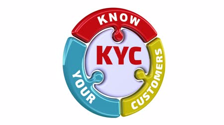 verifying : KYC. Know Your Customers. The check mark in the form of a puzzle