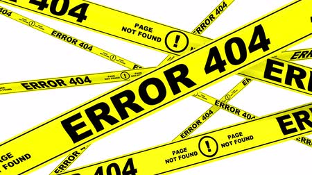 tapeçaria : ERROR 404. Yellow warning tapes Stock Footage
