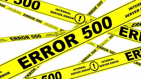 tapeçaria : ERROR 500. Yellow warning tapes