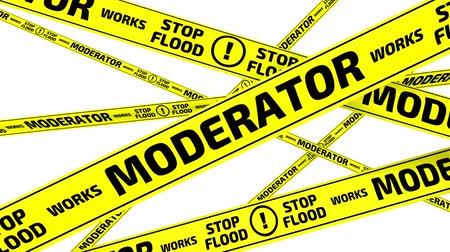 tapeçaria : Moderator is works. Stop flood. Yellow warning tapes