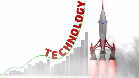 értékelés : The graph of technology growth Stock mozgókép