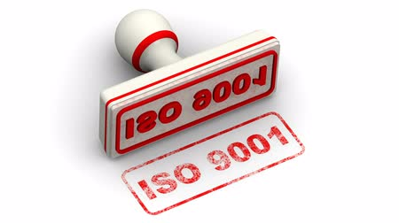 standart : ISO 9001. The stamp leaves a imprint