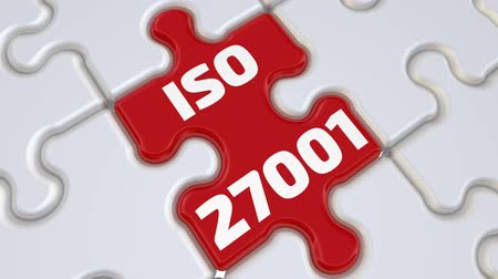 ISO 27001. The inscription on the missing element of the puzzle