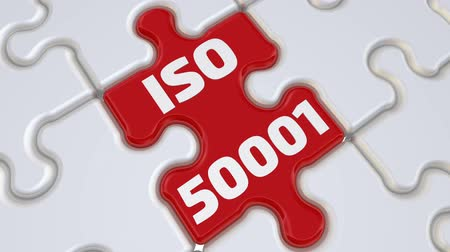ISO 50001. The inscription on the missing element of the puzzle