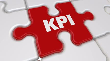 compiled : KPI - Key Performance Indicators. The inscription on the missing element of the puzzle