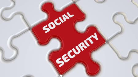 compiled : Social security. The inscription on the missing element of the puzzle