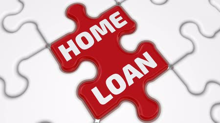 compiled : Home loan. The inscription on the missing element of the puzzle Stock Footage