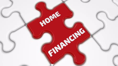 compiled : Home finance. The inscription on the missing element of the puzzle Stock Footage