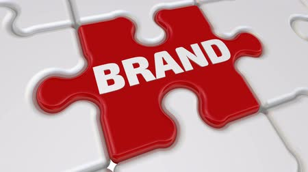 slogans : Brand. The inscription on the missing element of the puzzle