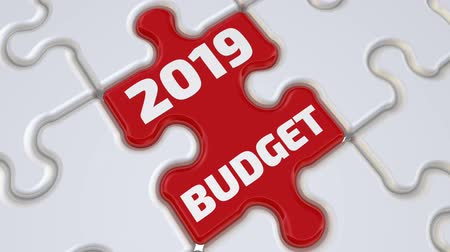 compiled : Budget 2019. The inscription on the missing element of the puzzle Stock Footage