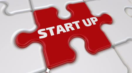 compiled : Start up. The inscription on the missing element of the puzzle Stock Footage