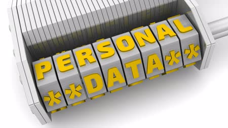 Personal data. Code on a combination padlock